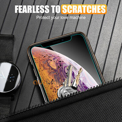 Apple iPhone XS Max XR X - 2x Scratch Resist Tempered Glass Screen Protector 3