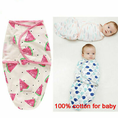 0-6 Months Pure Cotton NewBorn Baby Boy/Girl Swaddle Blanket Wrap Sleeping Bag 3