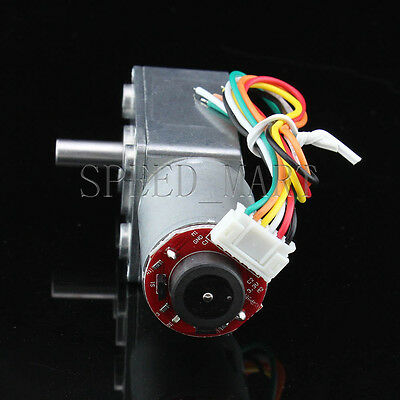 Hightorque Turbo worm Geared motor GW370 DC24V 21RPM motor with encoder