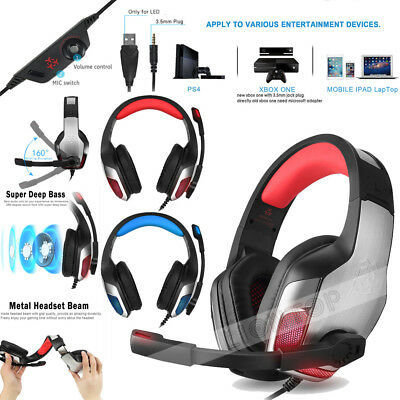 3.5mm Gaming Headset Mic Headphones Stereo Surround for PS3 PS4 Xbox ONE 360 PC 3