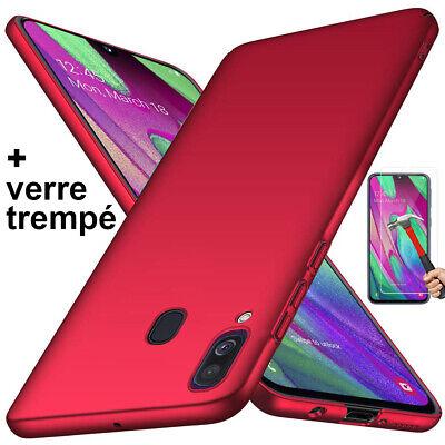 Coque Samsung A70 A50 A40 A20e A10 Housse AntiChoc Case Noir+ Film Verre Trempé 5