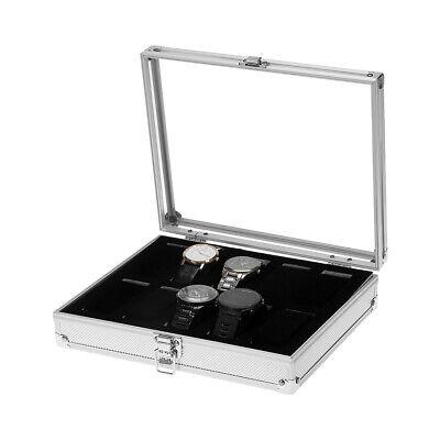 Uhrenbox Uhrenkoffer für 10 Uhren Uhrentruhe Uhrenkasten Uhrenschatulle Metall T