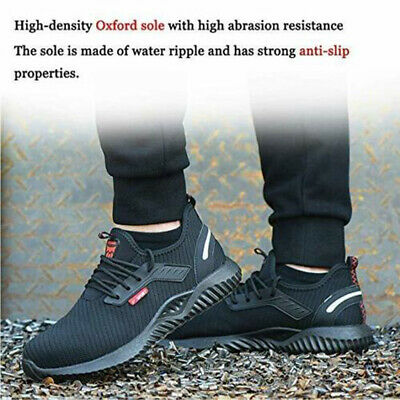 UK Safety Shoes for Men Women Steel Toe Trainers Lightweight Work Shoes Sports 7
