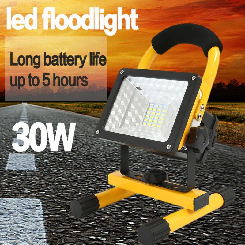Lampe camping en plein air EF sécurité rechargeable 24 LED 30W projecteur