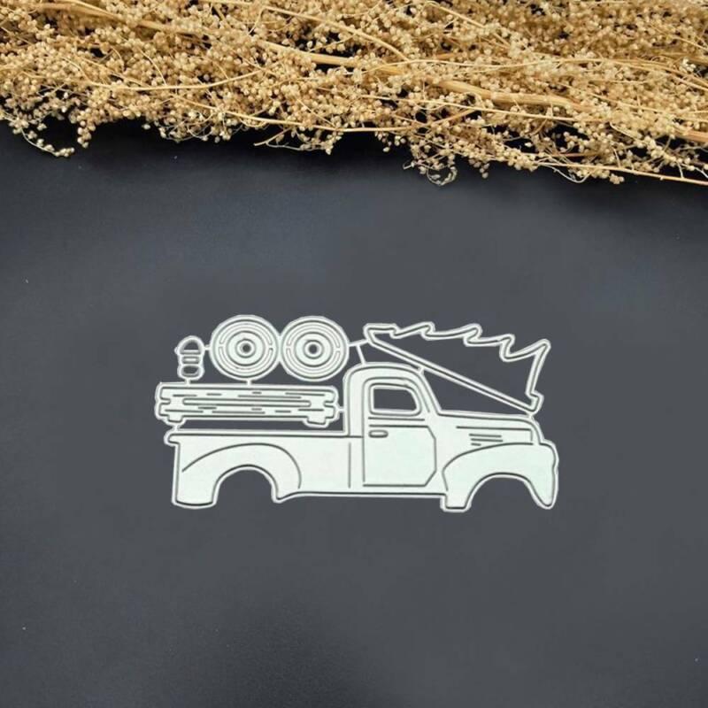 Truck Metal Cutting Dies Stencil Scrapbooking Album Paper Card DIY Craft gift 2