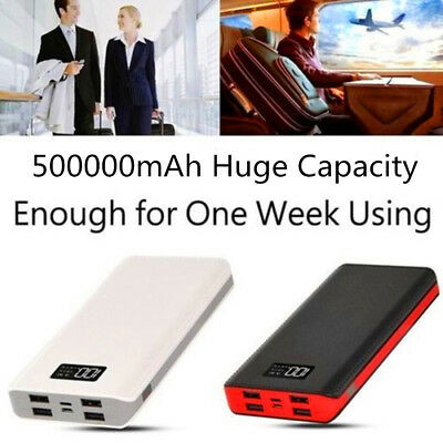 4 USB Fast Charging Greenest Portable Power Bank 500000mAh LED Battery Charger 4