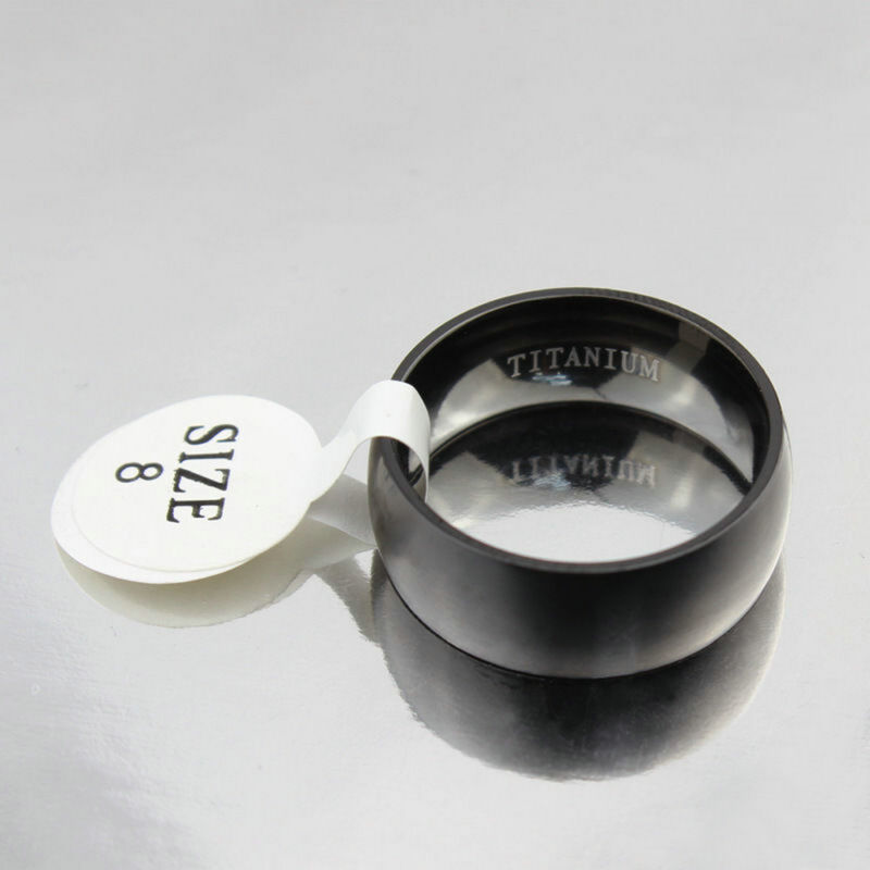 Men's Black Titanium Steel Ring 8MM Wedding Engagement Anniversary Band Size8-11 4