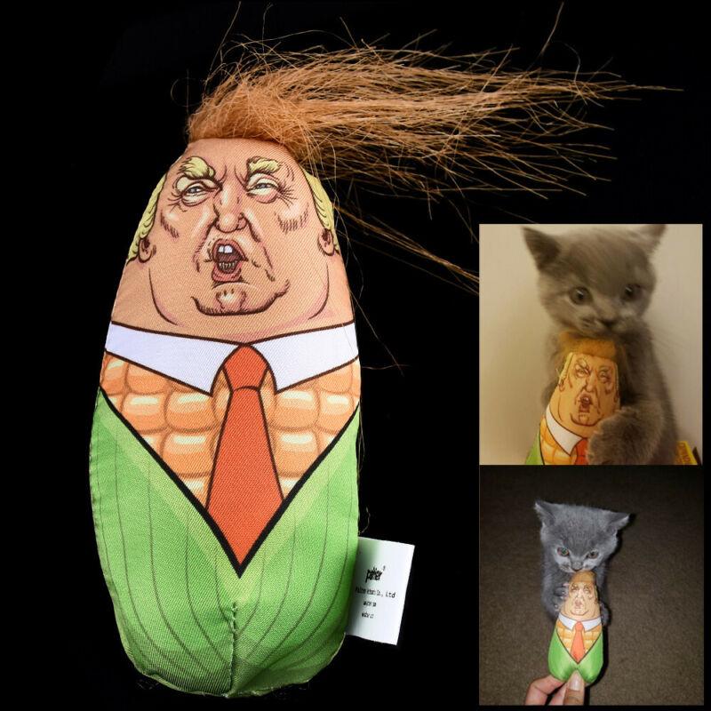 Cat Toys Stuffed Plush Corn Pet Kitten Funny Interactive Teaser Catnip Squeaky 2