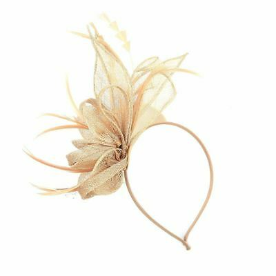 Flower Headband Sinamay Aliceband Fascinator Wedding Ladies Day Race Royal Ascot 2