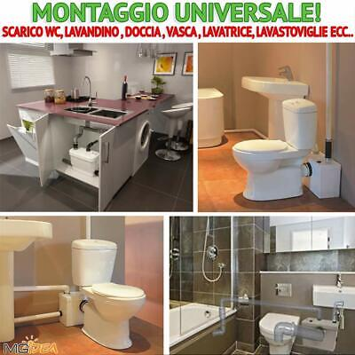 Sanitrit Trituratore Maceratore Wc Sanitario Lavandino Doccia Vasca 600W 240Lt 2