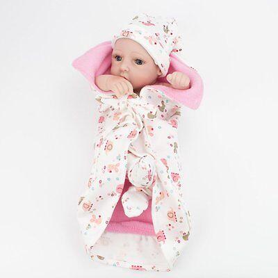 "Lifelike Twins Baby Dolls Full Vinyl Silicone Real Life Doll Babies Girl Boy 10"" 9"