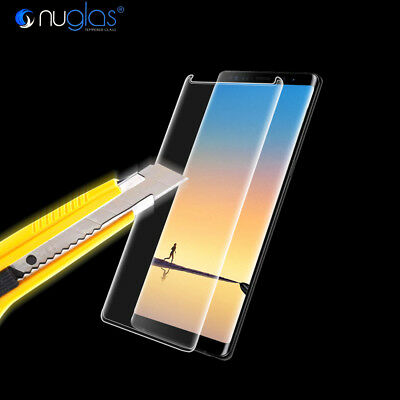Samsung Galaxy S9 S8 Note 9 8 NUGLAS Full Cover Tempered Glass Screen Protector 6