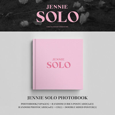 BLACKPINK JENNIE [SOLO] PHOTOBOOK CD+POSTER+Photo Book+Post Card+Card SEALED 3