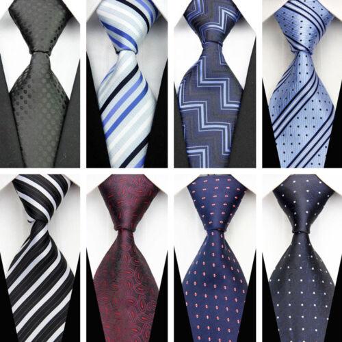 Blue Grey Black Red White Purple Wedding Stripe Plaid Dots Necktie Silk Mens Tie 11
