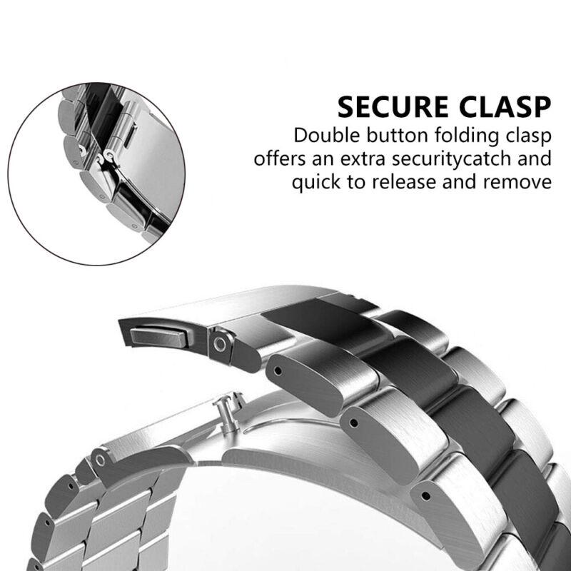 Samsung Galaxy Watch 46mm Correa reloj acero inoxidable + herramienta de enlace 5