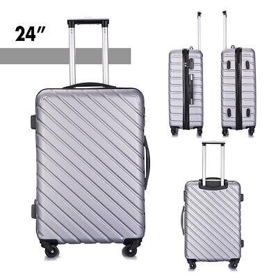 """4 piece Travel Luggage Set Suitcase Spinner Hardshell Business Case 18""""20""""24""""28"""" 8"""