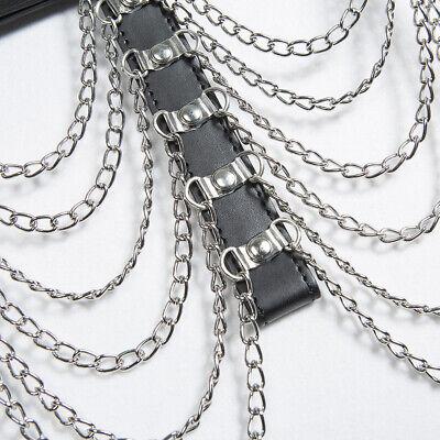 Erotik Leder Körperkette Gürtel Ketten Bondage Gothic Punk Party Clubwear SM 8