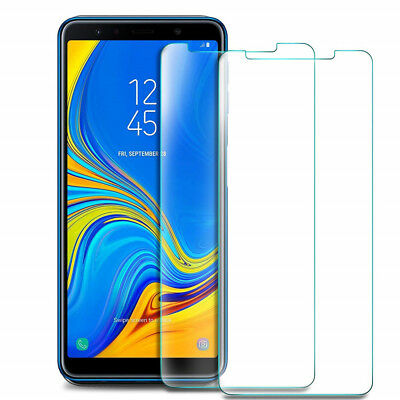 VERRE SAMSUNG A6 Plus A7 A8 A9 2018 FILM PROTECTION VERRE TREMPE ECRAN LOT1/4 9