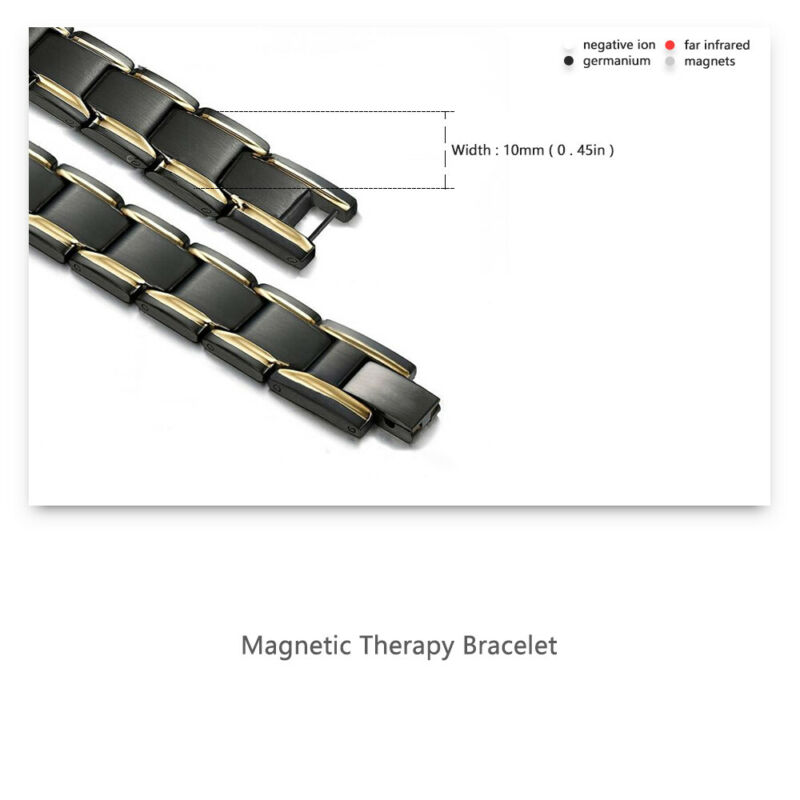 Therapeutic Energy Bracelet - Magnet Therapy Bracelet Health Care (Men Style) 4