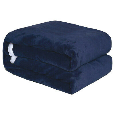 Sherpa Flannel Fleece Blanket Soft Plush Warm Thickened Bed Sofa Twin Queen 12