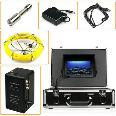 """40M Sewer Waterproof Camera Pipe Pipeline Drain Inspection System 7""""LCD DVR 4"""