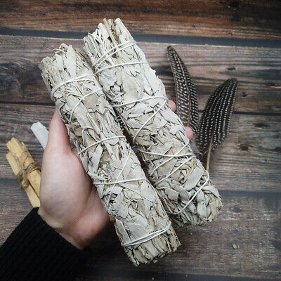 "7"" California White Sage Smudge Stick Wands House Cleansing Negativity Removal 2"