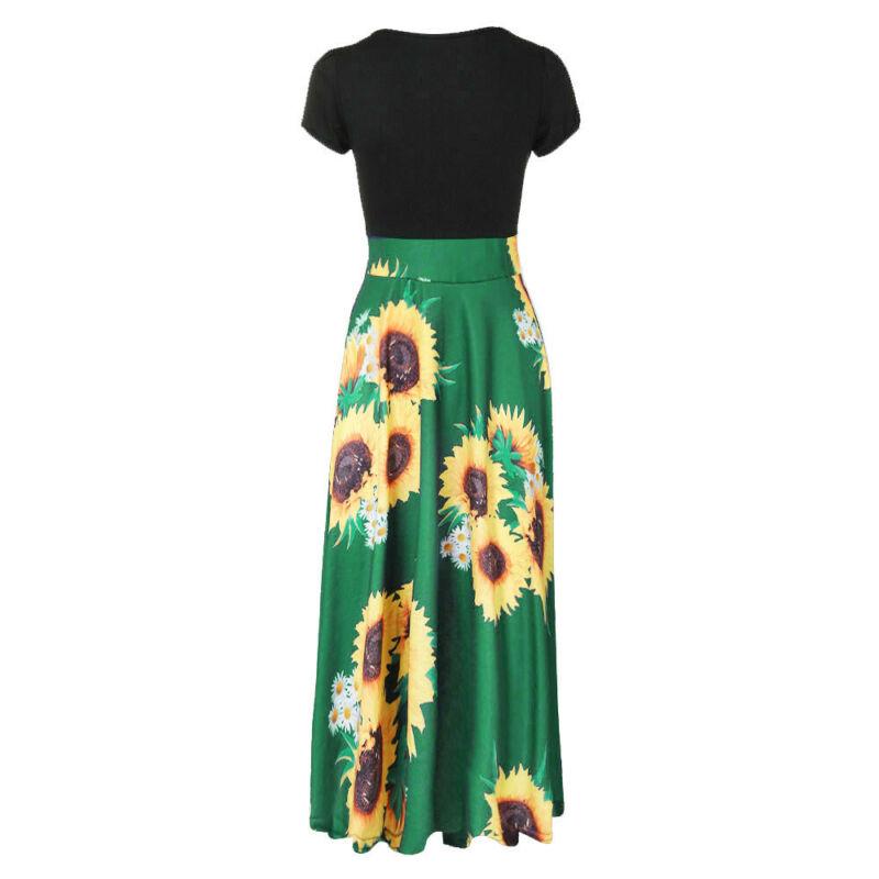 Women Summer Boho Long Maxi Dress Evening Cocktail Party Beach Dresses Sundress 10