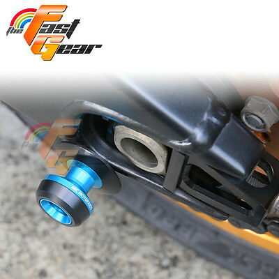 Twall Protector Blue  Swingarm Spools Sliders Fit Kawasaki Ninja 300R 2013-2015