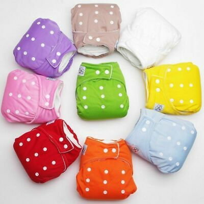 #AN Adjustable Reusable Lot Baby Kids Boy Girls Washable Cloth Diaper Nappies 2