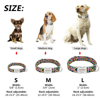 Personalized Dog Collar Heavy Duty Buckle Engraved ID Name Custom Labrador S M L 2