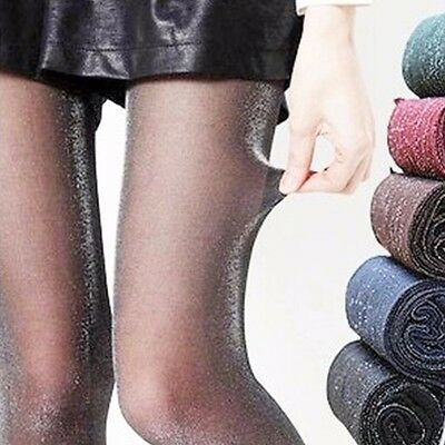 Womens Glitter Shimmer Sheer Shiny Pantyhose Opaque Stockings Tights Hosiery 5
