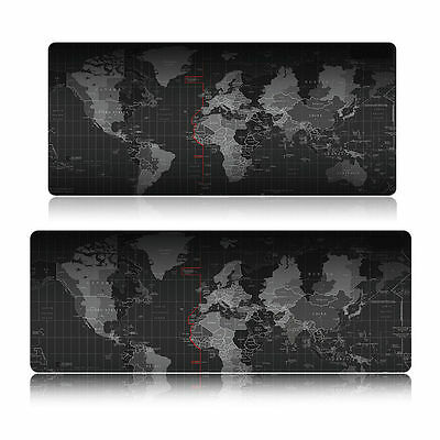 Large World Map Mousepad Speed Game Laptop Gaming Mouse Mice PC Pad Mat 90x40cm