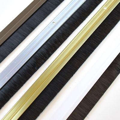 Door Draught Excluder Brush Strip Bar   25 mm Exitex Heat Seal Energy Savings 4