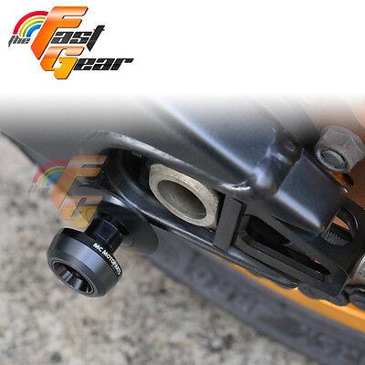 Twall Protector Black  Swingarm Spools Sliders Fit Kawasaki Ninja 300R 2013-2017