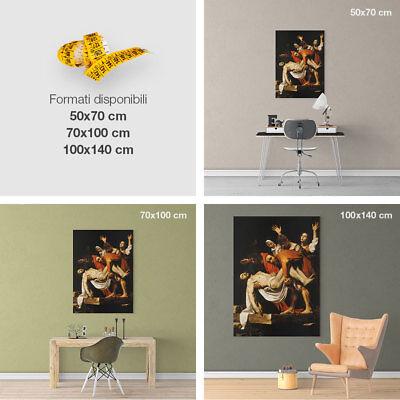 Caravaggio, Deposizione di Cristo - Stampa Fine Art HR su tela Canvas Pietà 3
