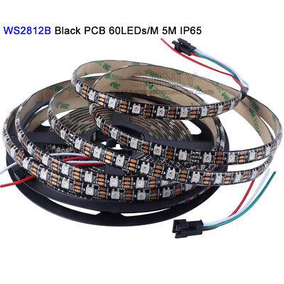 WS2812B LED Streifen 5m WS2812 RGB Licht SMD 5050 Individuell Adressierbar DC5V 10