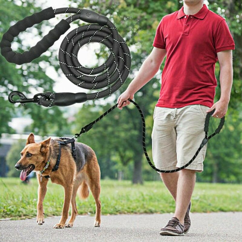 Extra Strong Reflective Rope Dog Lead with Foam Padded Handle Leash 5ft 150cm 2