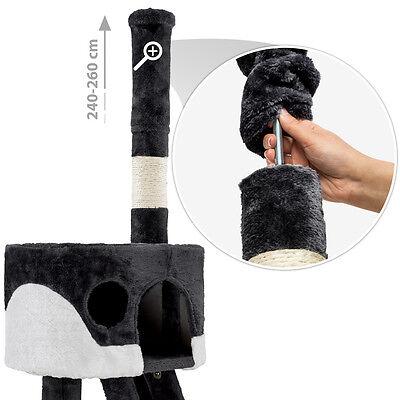 Arbre à chat griffoir grattoir jouet animaux douillet geant peluché noir blanc