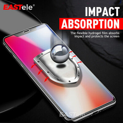 EASTele HYDROGEL AQUA FLEX Screen Protector Apple iPhone XS Max XR X 8 7 6s Plus 10