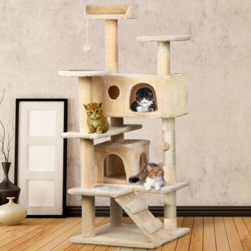 Large Cat Scratching Post Tree Gym House Condo Furniture Scratcher Poles