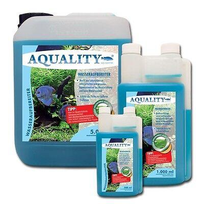 (10,00€/l) AQUALITY Aquarium Wasseraufbereiter 1 L Pflege AloeVera & Vitamin B 3 • EUR 9,40
