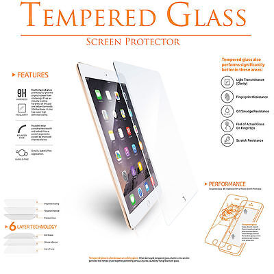 2X Screen Protector Tempered Glass for Apple iPad ALL MODEL Ultra Clear Premium 4
