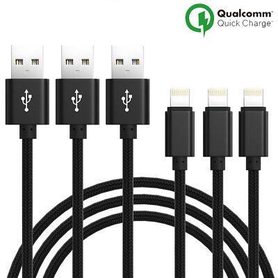 LOT3 CABLE USB CHARGEUR POUR IPHONE X 8 7 6S 6 PLUS 5 SE XR XS MAX Rapide 2Mètre 4