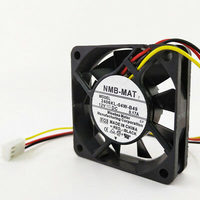 For 1pcs NMB 2406KL-04W-B49 Fan 12V 0.17A 60*60*15MM