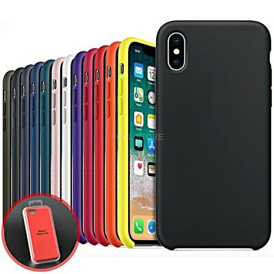 COVER per Iphone X /XS /Max/ XR / 8 /7/ 6 Plus CUSTODIA Slim Silicone Genuine 4
