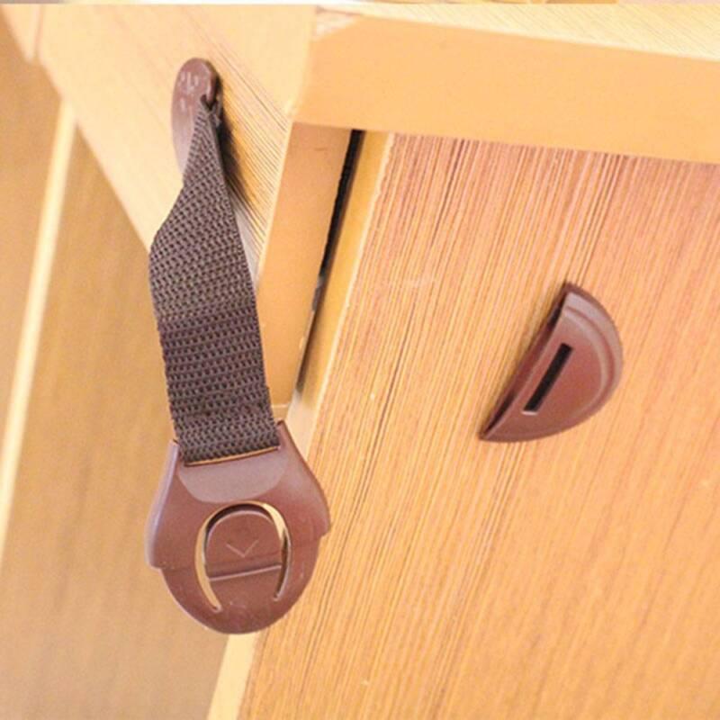 10Pcs Baby Child Pet Safety Safe Lock Fridge Toilet Drawer Cabinet Door Cupboard 3