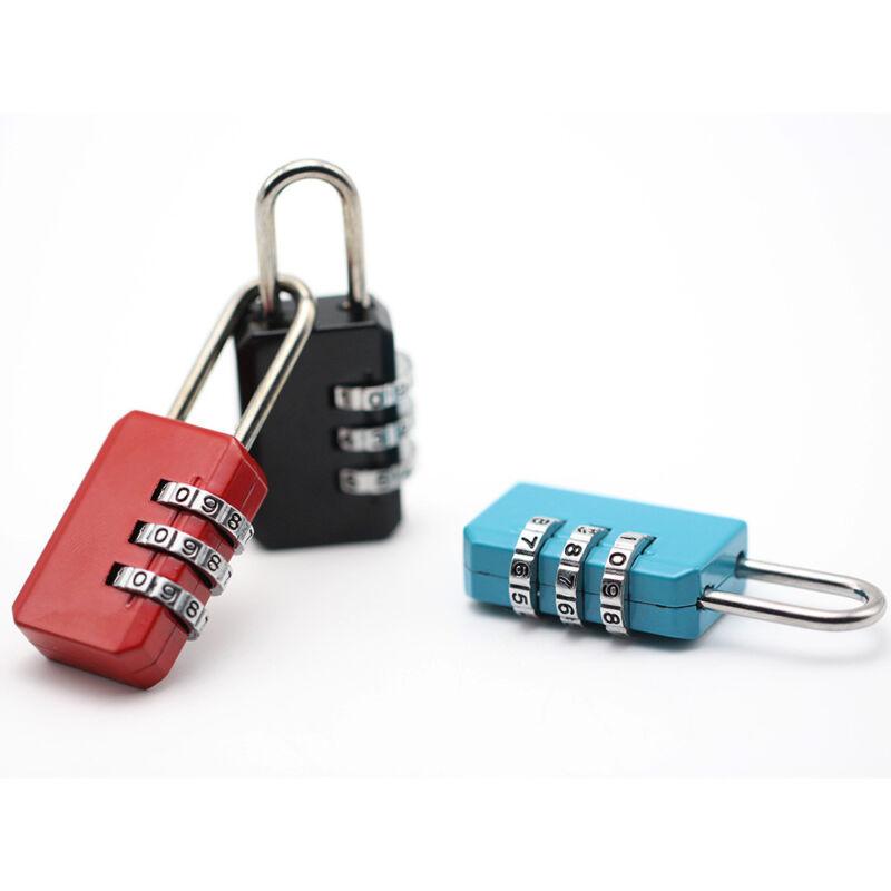 4 Digit Dial Combination Metal Code Password Lock  Suitcase Luggage Padlock 4