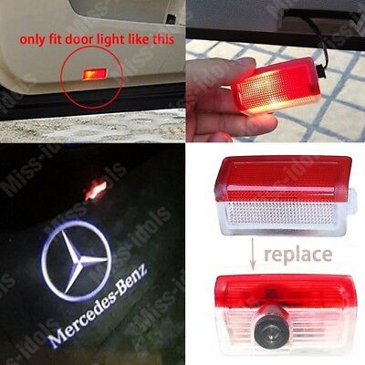 Projector Door CREE LED Courtesy Light Puddle Ghost Laser LOGO For Mercedes Benz 3