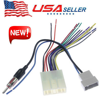 CAR STEREO CD Player Wiring Harness Adapter Radio Cable For ... on