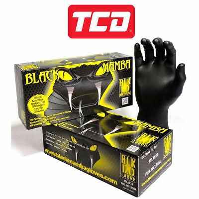 Black Mamba Super Strong Heavy Duty Disposable Mechanics Workshop Nitrile Gloves 4